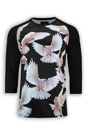 sublimation shirt mandela 18 shirts doves birds print 3 4