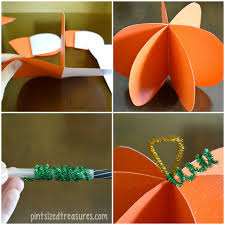 easy paper pumpkin craft pint sized treasures