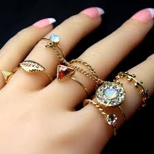 new jewelry rings images 8 pcs set fashion jewelry gold color flower midi ring sets for jpg