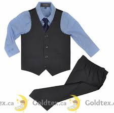 boys light blue suit 4 piece boys suit set grey vest sky light blue shirt kids