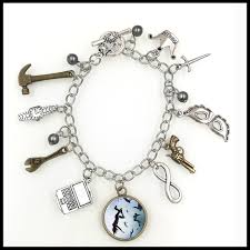 themed bracelets the 100 tv show inspired sky themed charm bracelet jewelry