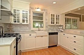 Sink Kitchen Cabinets Carrara Marble Kitchen Kitchen Contemporary With Apron Front Sink