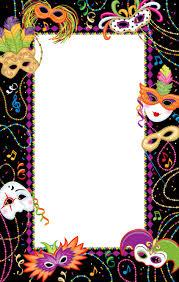 mardi gras picture frames mardi gras madness invitation blank