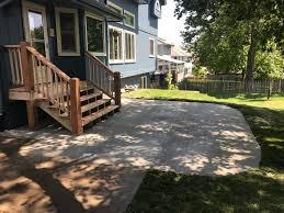 Drainage Patio New Concrete Patio Steps U0026 Deck Removal Water Drainage