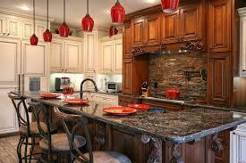 dry stack slate kitchen backsplash kitchen traditional with light