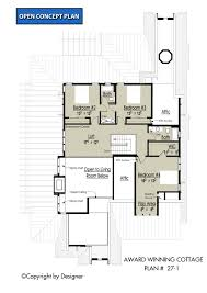 house plans 1 floor award winning cottage house plans by garrell associates inc