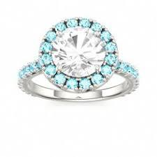 zircon engagement rings engagement ring gold blue zircon breezy blue zircon