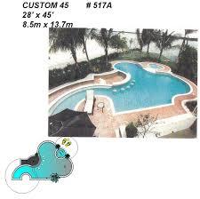 517a custom pool spa build
