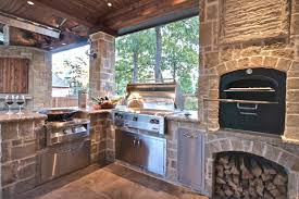 kitchen kitchen island combined with stone wall with built in