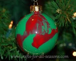 Christmas Ball Ornaments To Decorate by Paint Swirled Ornament