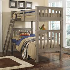 NE Kids Highlands Mission Style Twin Over Twin Harper Bunk Bed - Ne kids bunk beds