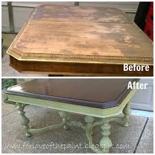 Antique Dining Furniture For Love Of The Paint Before And After Antique Dining Table