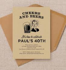 cheers u0026 beers u0027 retro 40th birthday party invitation from 1 25 each