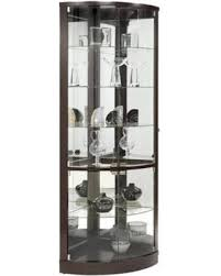 Glass Curio Cabinet With Lights Cyber Monday Deal On Corner 21508 77
