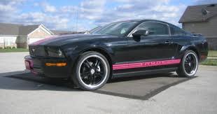 Black Mustang Stripes Black Mustang With Pink Racing Stripes And Wheels Mustang Dreams