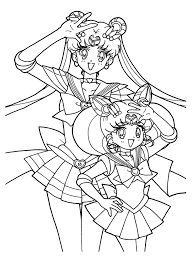 sailor moon chibi coloring pages coloringstar
