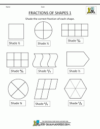 l shade shapes fraction shape worksheets fractions of shapes differentia
