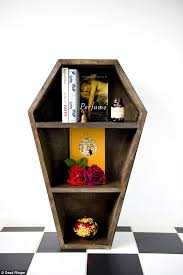 coffin bookshelf dead ringer homwares sells macabre coffin bookcases beloved by