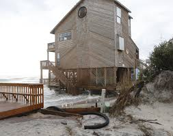 Beach Houses In Topsail Island Nc by Erosion Worsens At Topsail North End News The Daily News