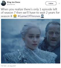 Game 7 Memes - fans react to game of thrones season 7 episode 6 beyond the wall