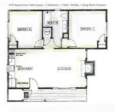 1 Room Cabin Floor Plans by 2 Bedroom Cabin Plans