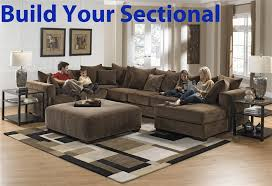 Build Your Sofa Ferguson Build Your Own Sectional In Chocolate Fabric By Jackson