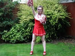 Zombie Cheerleader Costume Zombie Cheerleader Make Up Tutorial Party Delights Blog