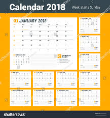 yearly planner template calendar template 2018 year business planner stock vector calendar template for 2018 year business planner template stationery design week starts on