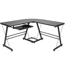 Black Corner Computer Desks For Home Best Choice Products L Shape Computer Desk Pc Glass