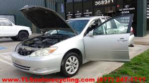 parting out 2002 toyota camry stock 4023gy tls auto recycling