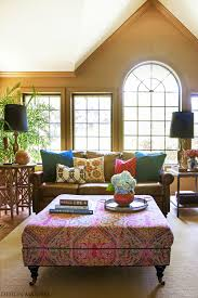 colorful bohemian living room design ideas pictures