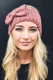 knit headband bow knit headband