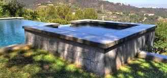 tile by design los angeles vanishing edge pool design w elevated spa custom tile