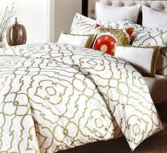 nicole miller home duvet cover 3 piece set moroccan quatrefoil