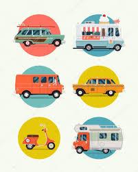 surf car clipart cars vans trucks circle icons u2014 stock vector masha tace 63560313