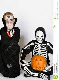 free halloween costumes two boys dressed in halloween costumes stock photo image 29664750