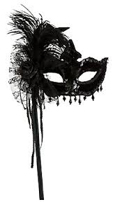 black magic feather mask with handle a night out pinterest