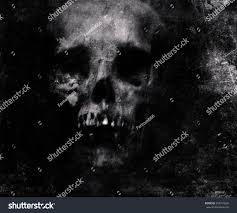 scary grunge skull wallpaper halloween background stock photo