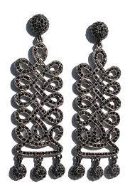edie sedgwick earrings edie serendipity earring with hematite plating and jet stones