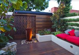 outdoor wood wall asian patio with raised beds fence zillow digs zillow