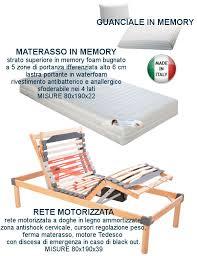 peso materasso rete elettrica doghe ammortizzate legno materasso memory e guanciale