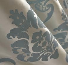 Damask Kitchen Curtains Curtains For Living Room Jacquard Blackout Floral Damask Blue