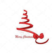 ribbon christmas tree ribbon christmas tree vector stock vector lindwa 6601237