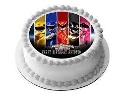 power rangers birthday cake power rangers megaforce edible cake or cupcake topper edible