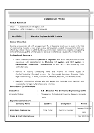 resume electrician sample electrical engineer resume