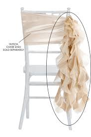 chair sash curly willow chair sash chagne new design cv linens