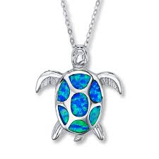 kay jewelers account kayoutlet turtle necklace lab created opals sterling silver