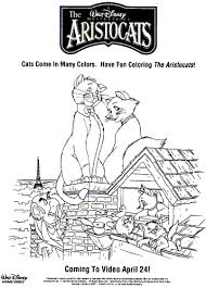 aristocats disney coloring pages color plate coloring sheet