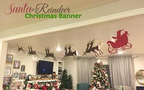 banner santa sleigh reindeer