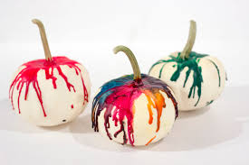 colourful melted crayon pumpkin styled by s